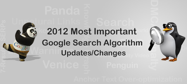 Google Search Algorithm Changes 2012